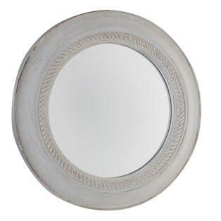 Tyler Round Wall Mirror in Grey