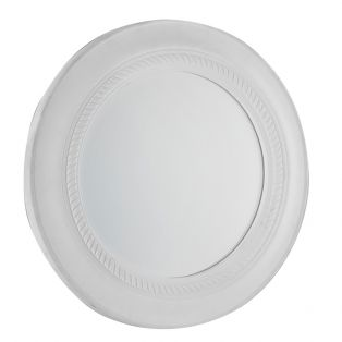 Tyler Round Wall Mirror in White