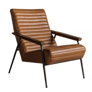 Rocco Brown Leather Armchair