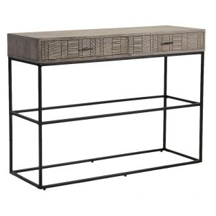 Ollin Acacia Two Drawer Console Table