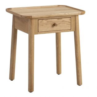Noranda Oak One Drawer Side Table