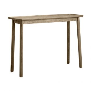 Noranda Oak Console Table in Grey