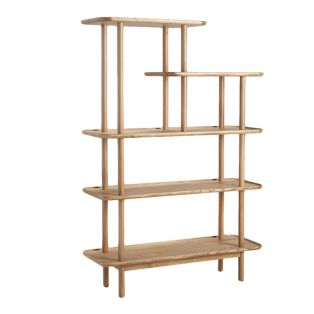 Noranda Oak Display Shelving Unit