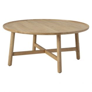 Noranda Oak Round Coffee Table