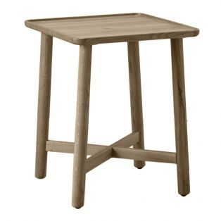 Noranda Oak Side Table in Grey