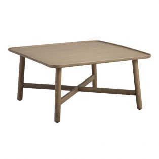 Noranda Oak Square Coffee Table in Grey