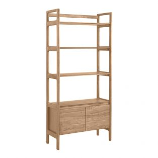 Menorca Oak Display Shelving Unit