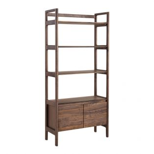 Menorca Walnut Display Shelving Unit