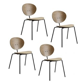 Iria Grey Dining Chair, Set of Four