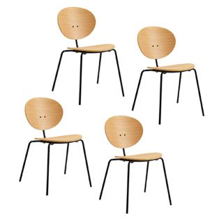 Iria Natural Dining Chair, Set of Four