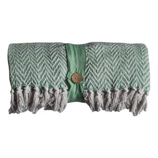 Luis Mint Green Throw