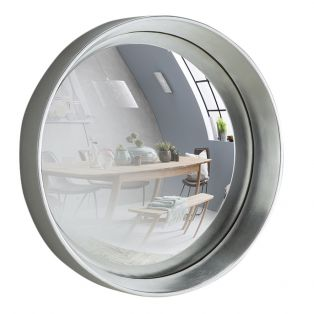 Sorel Convex Mirror in Silver, Medium