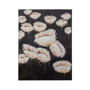 Textured Poppies Canvas Wall Art