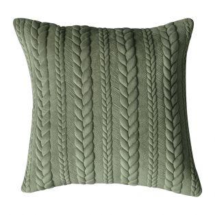 Trigo Sage Embroidered Cushion