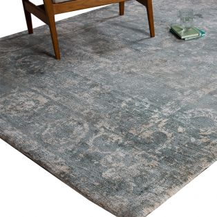 Rosco Teal Persian Rug, Small
