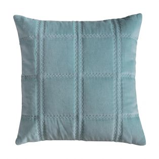 Eaton Duck Egg Quilted Cushion