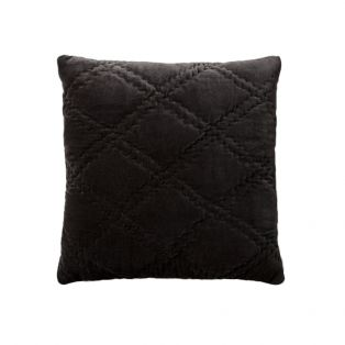 Edison Charcoal Diamond Quilted Cushion