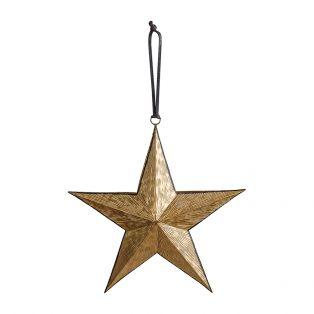 Celeste Gold & Black Hanging Star, Medium