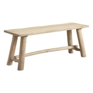 Sandbar Rustic Natural Bench, Small