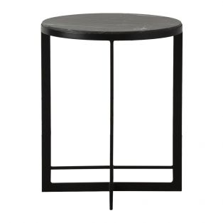 Oxendan Black Marble Side Table