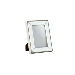 Mable Art Deco 4x6'' Picture Frame in Silver