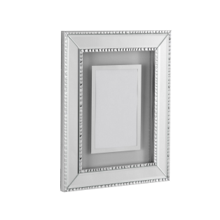 Roma Silver 8x10'' Picture Frame with Floating Inlay