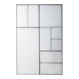 Norman Panelled Wall Mirror in Black