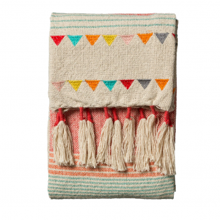 Darby Multicolour Cotton Throw