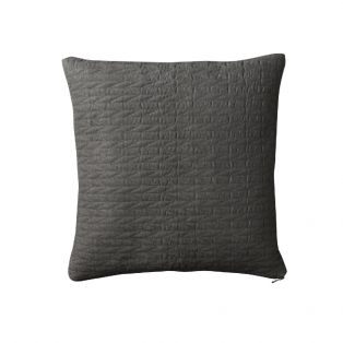 Ragna Contemporary Quilted Cushion in Pebble Grey