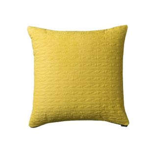 Ragna Contemporary Quilted Cushion in Mustard Yellow