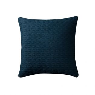 Ragna Contemporary Quilted Cushion in Midnight Blue