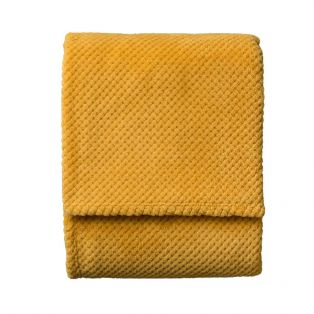 Colton Large Plush Throw in Lemon Yellow