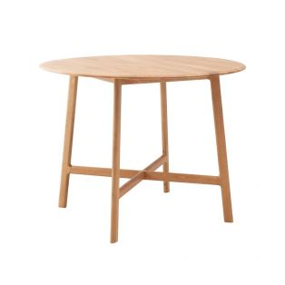 Menorca Oak Round Dining Table