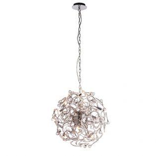 Viola Circular Crystal Ceiling Pendant