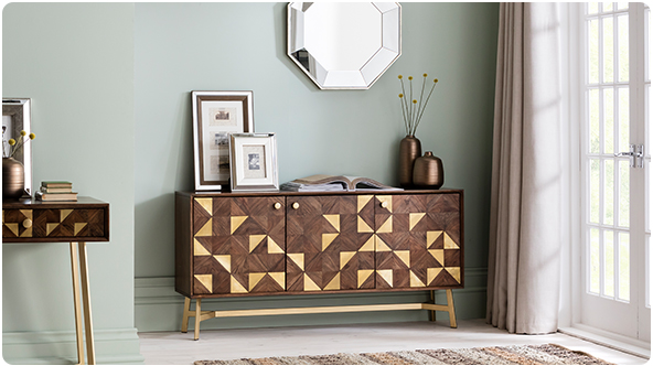 Harvey Acacia & Brass sideboard